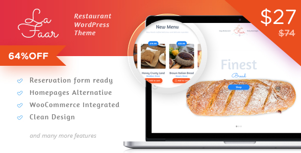 Lafaar – Restaurant & Food Menus WooCommerce Theme