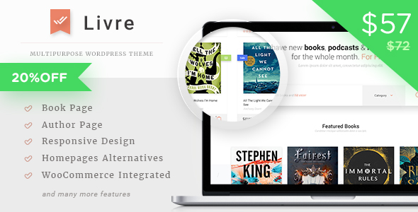 Livre – WooCommerce Theme For Book Store