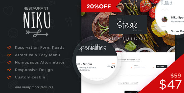 Niku – Restaurant & Food Menus WooCommerce Theme