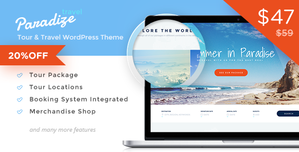 Paradize – WordPress Tour:Travel Theme