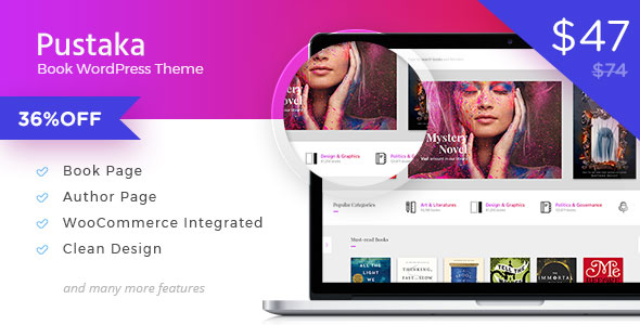 Pustaka – WooCommerce Theme For Book Store